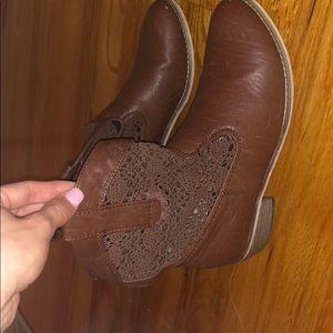 Brown short booties